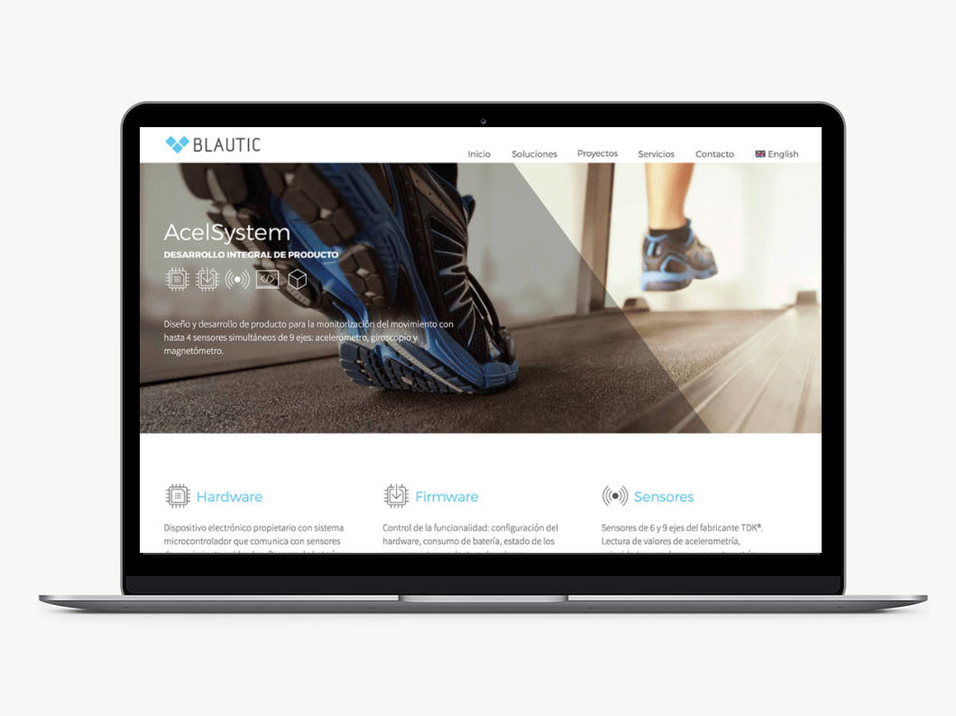 Diseño web blautic