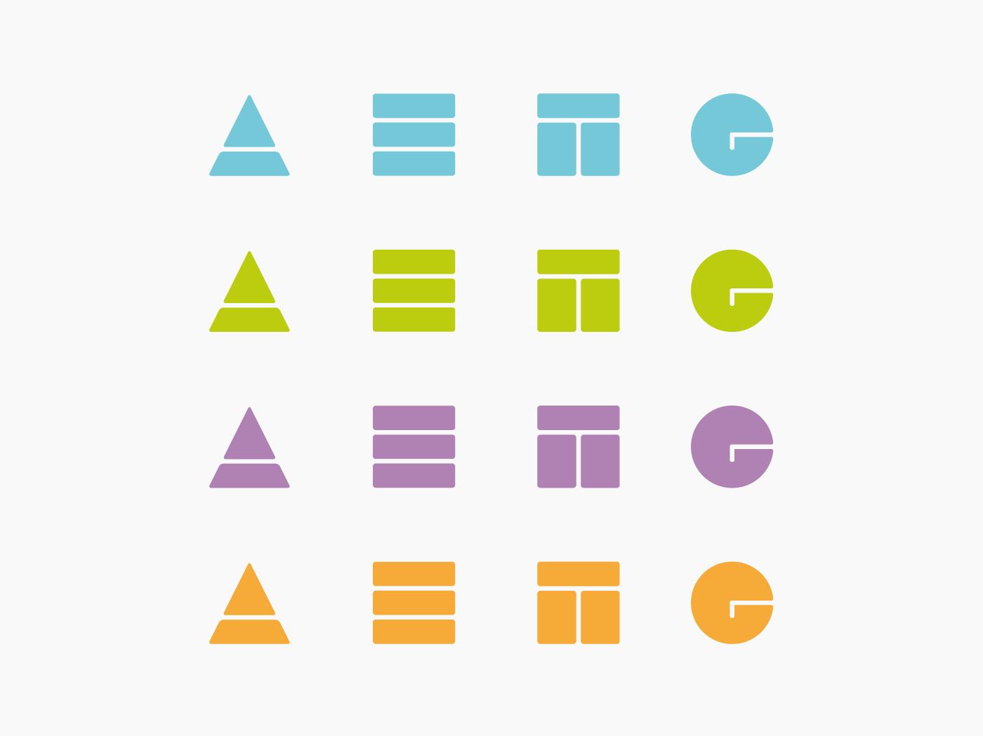 Gama cromática marca AETG